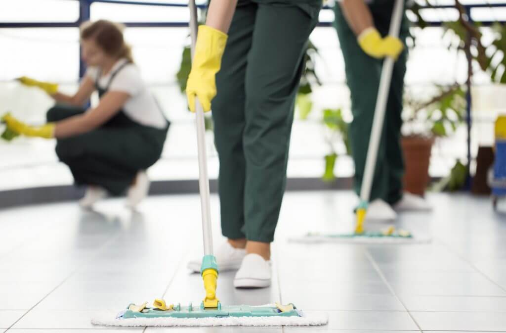 janitorial-workers-cleaning